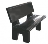 TSS1254 Garden Bench Unit - Black Ultimate