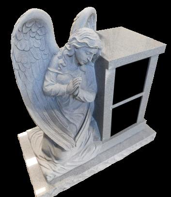 2 Niche columbarium with sculpted angel