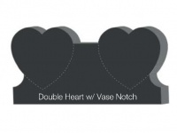 Double heart with vase notch