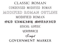Font Options Tecstone Granite