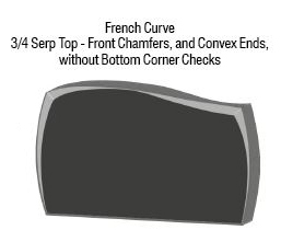 Three-Fourths Serp French Curve