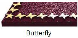 Butterfly Bronze Border