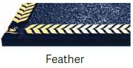 Feather Bronze Border