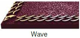 Wave Bronze Border