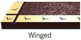 Winged Bronze Border